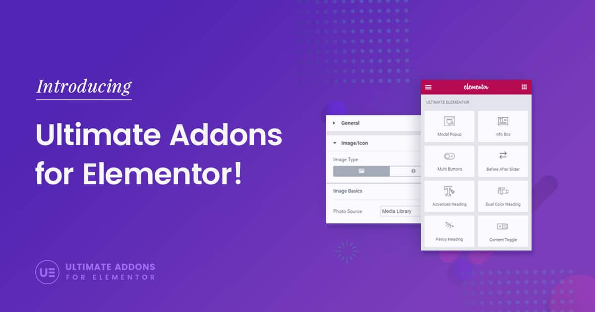 Introducing the Ultimate Addons for Elementor!