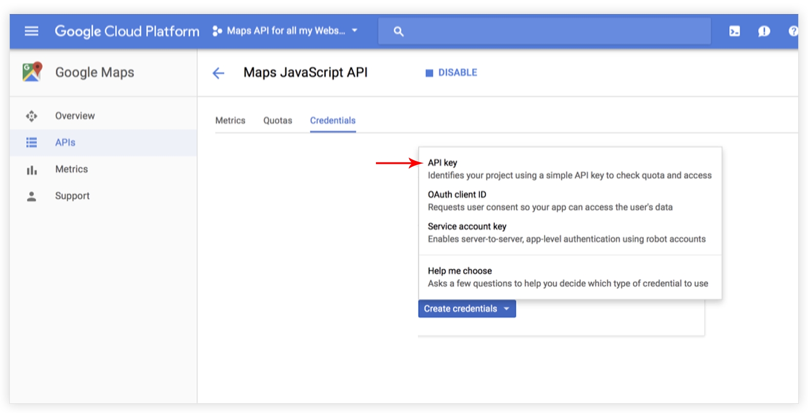 How to create Google API key in order to make the Google Maps ... Google Maps Questions on