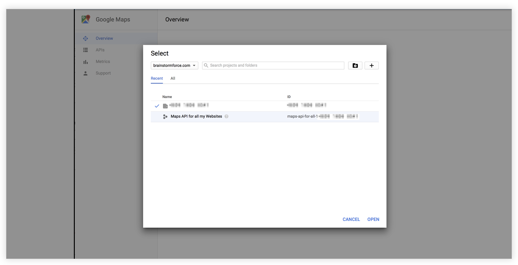 How to create Google API key in Google Maps Widget of UAEL