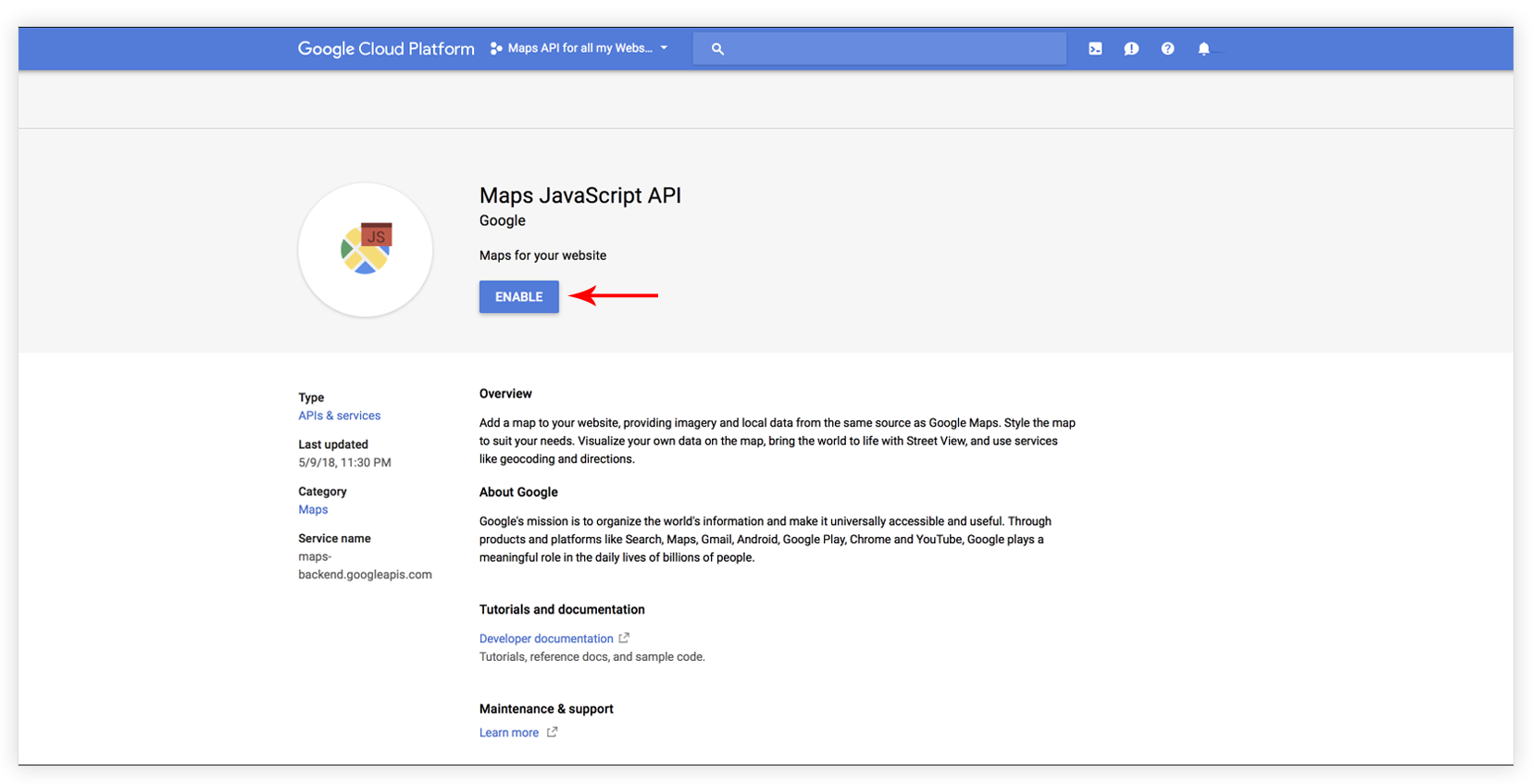 How to create Google API key in order to make the google ...