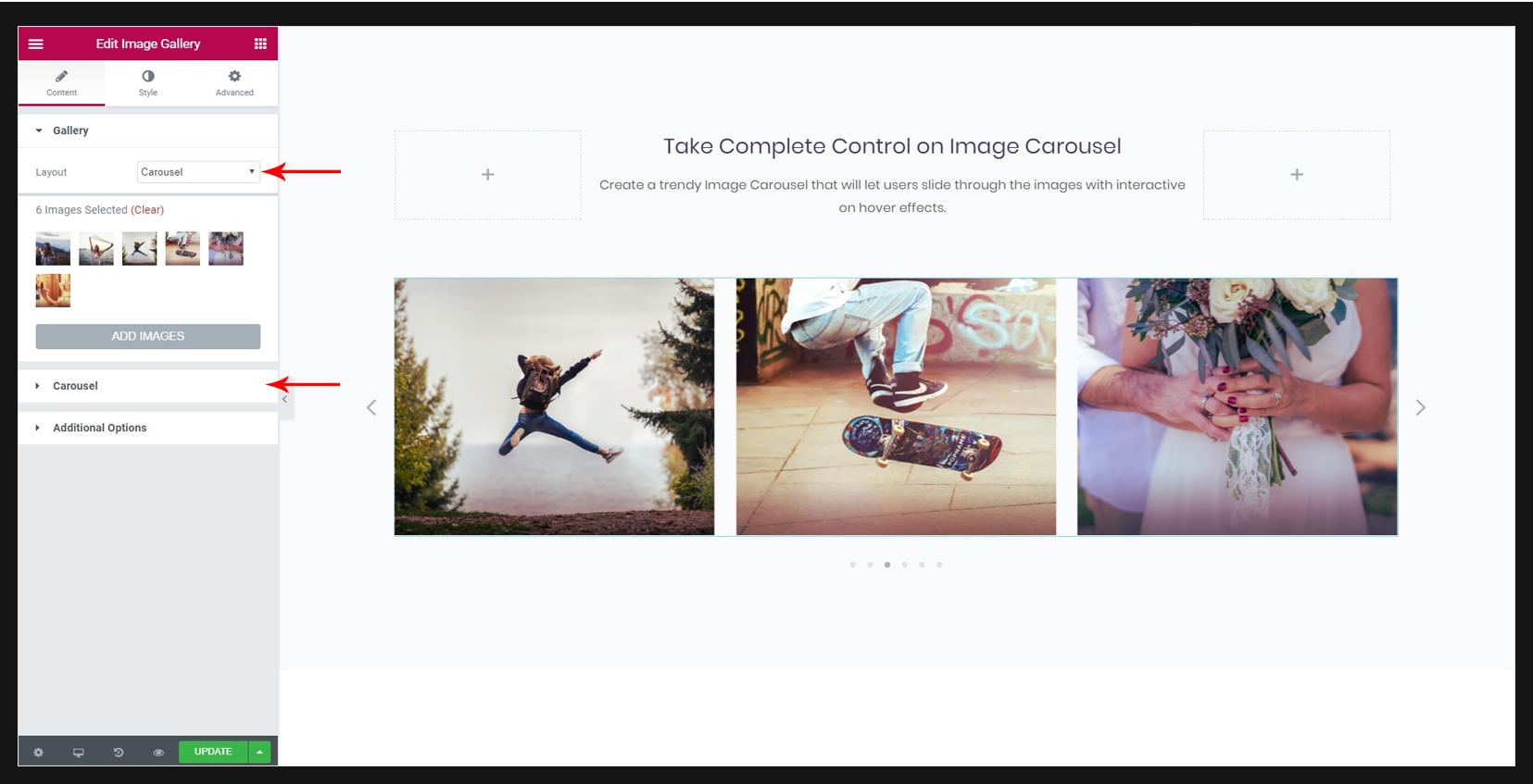 Image Gallery Widget – Ultimate Addons for Elementor