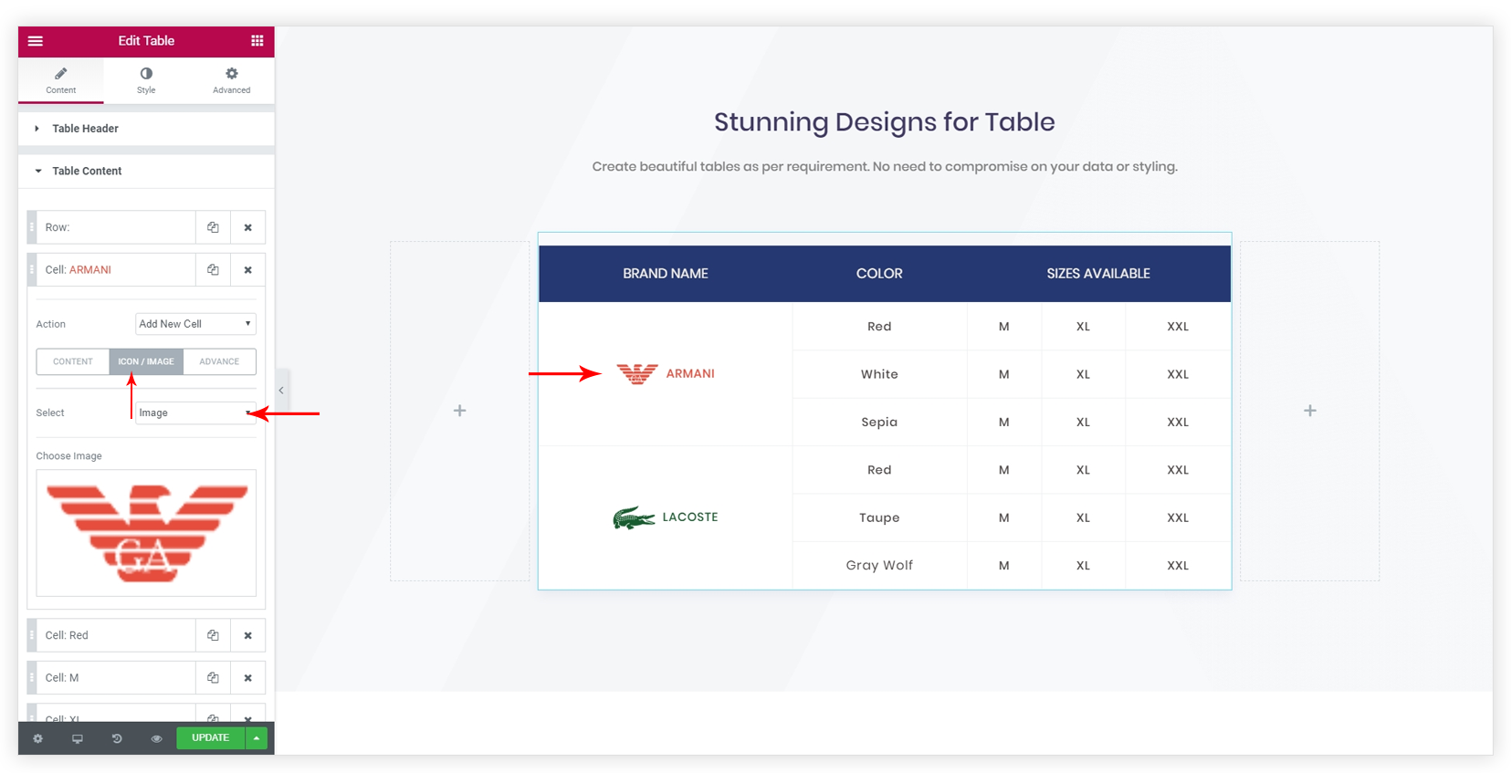 How to Style the Table? – Ultimate Addons for Elementor