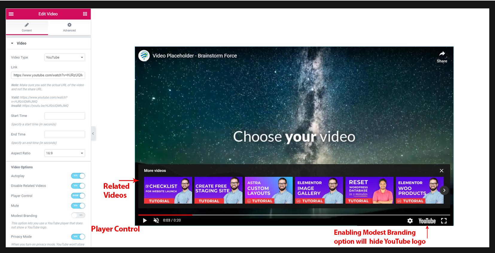 Video Widget – Ultimate Addons for Elementor