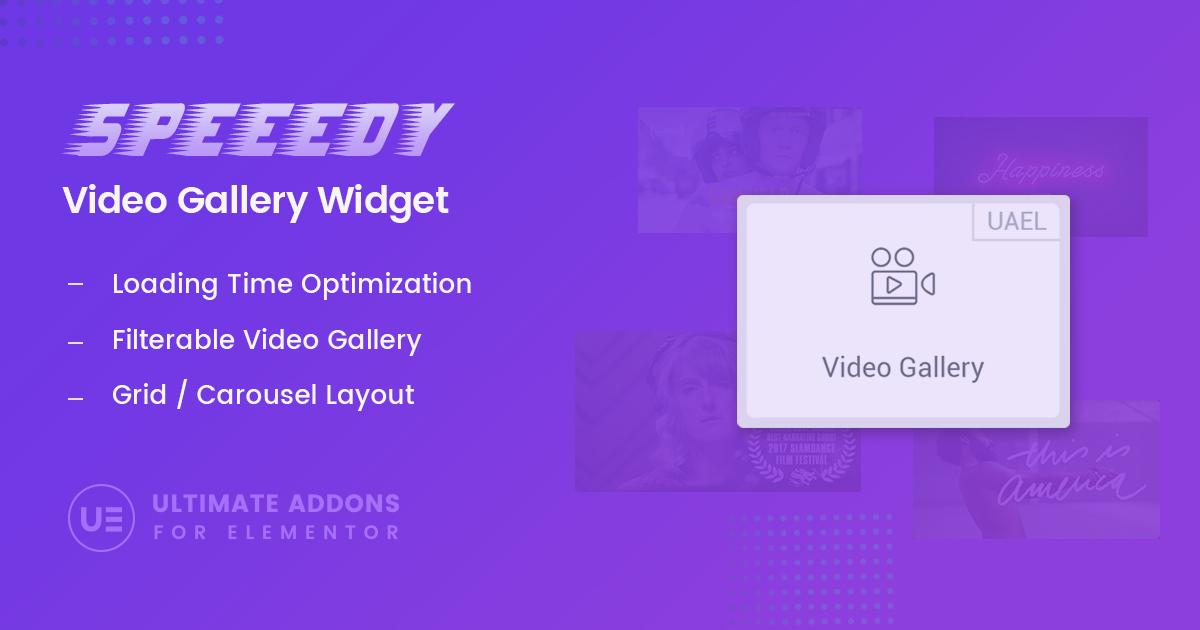 Elementor Video Gallery Widget – Ultimate Addons for Elementor