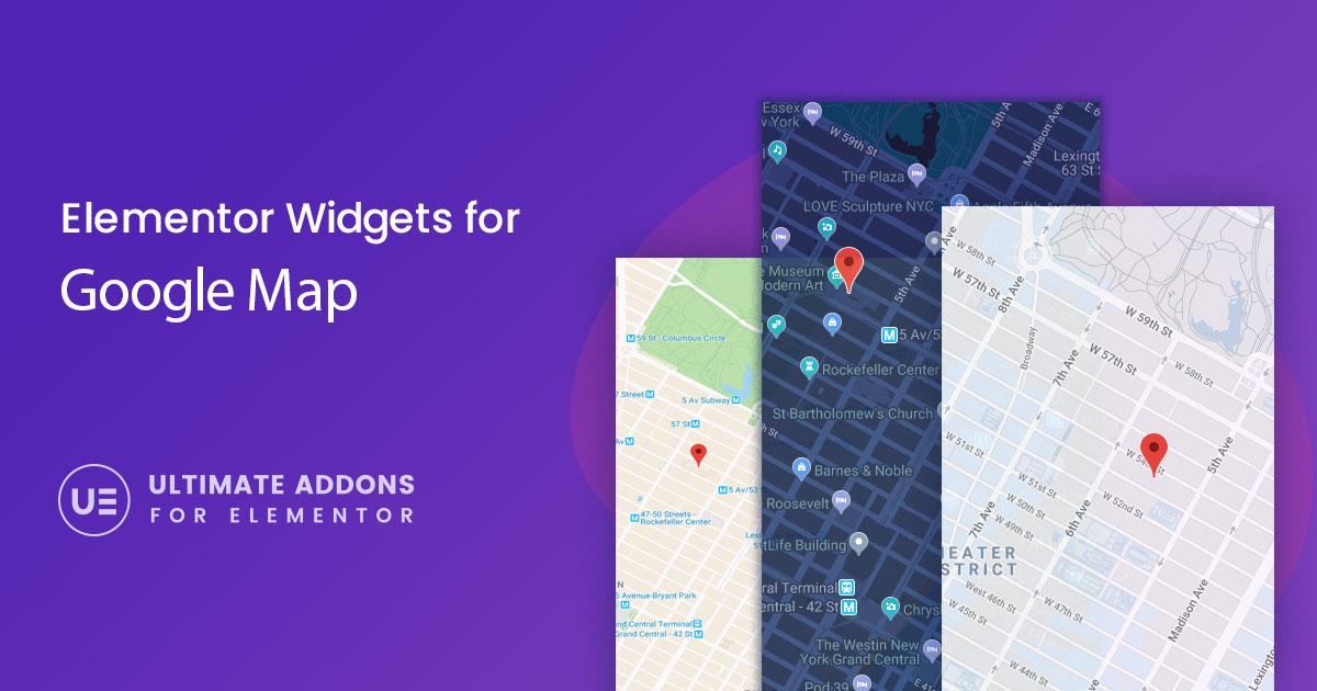 Elementor Google Map Widget – Ultimate Addons for Elementor