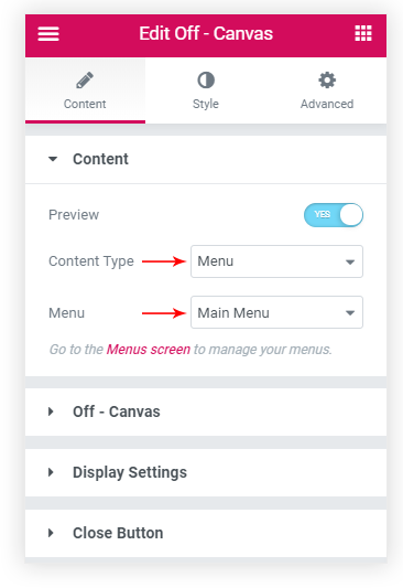 How to Design an Off-Canvas menu for Elementor - 3 Easy