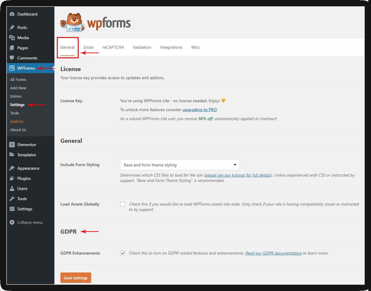 Styling Checkbox / Radio / Acceptance controls in WPForms