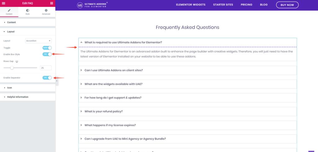 FAQ Box Style