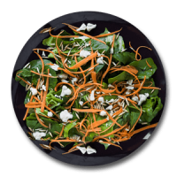 Besil and Carrot Salad